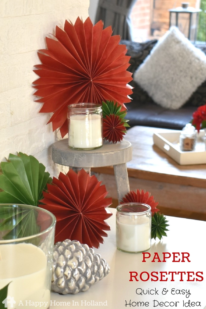 Diy Paper Rosettes How To Make Simple Paper Fans