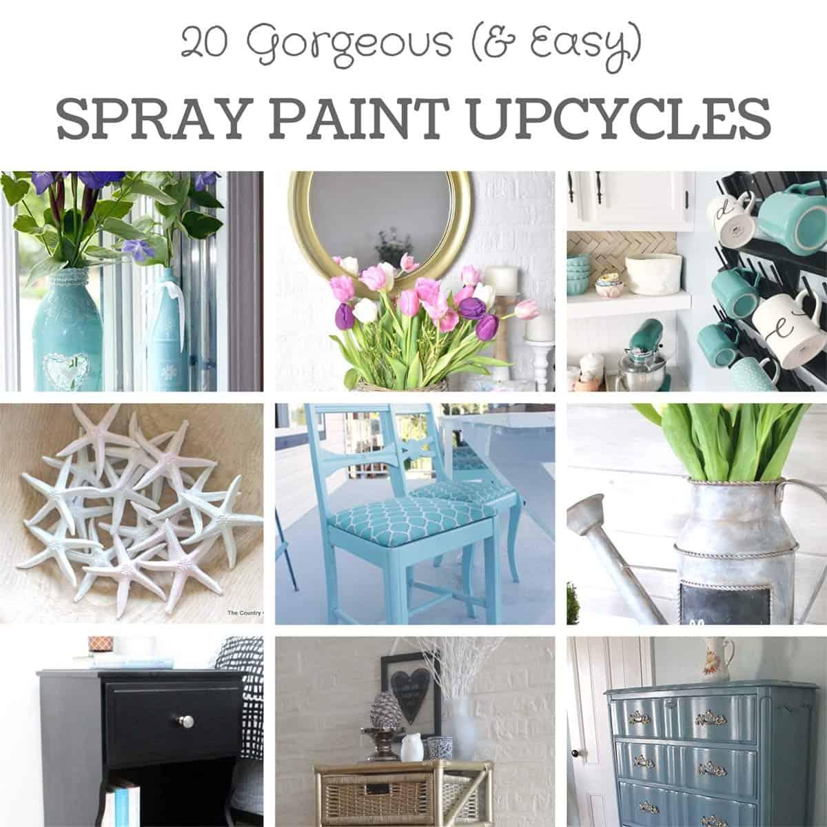 20 Beautiful Diy Spray Paint Furniture Home Decor Upcyling